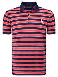 Ralph Lauren Polo Golf By Short Sleeve Polo Shirt Coral Glow Multi