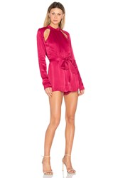 C Meo Collective Can't Resist Long Sleeve Romper Red