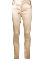 Haider Ackermann Contrast Slim Fit Trousers Pink And Purple