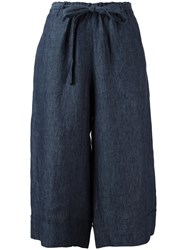 Masscob Cropped Palazzo Pants Blue
