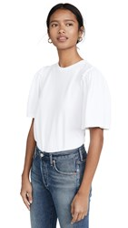 Citizens Of Humanity Vera Gathered Shoulder Top White