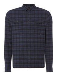 Label Lab Men's Colbert Plaid Broken Check Navy