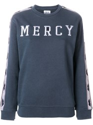 Zoe Karssen Mercy Embroidered Sweatshirt Blue
