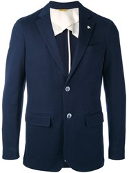 Canali Classic Blazer Men Cotton 52 Blue