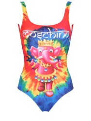 Moschino Elephant Tie Dye Lycra Bathing Suit