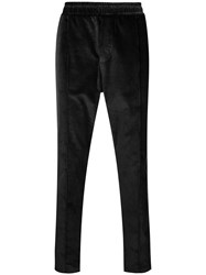Low Brand Elasticated Waist Corduroy Trousers Black