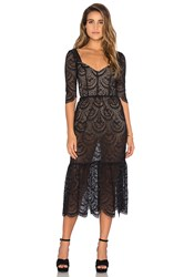 For Love And Lemons Rosalita Dress Black