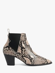 Ted Baker Rilans Suede Ankle Boots Natural Cream