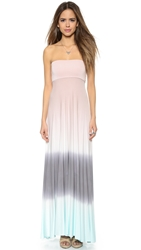 Young Fabulous And Broke Bangal Convertible Maxi Dress Pink Grey Ombre