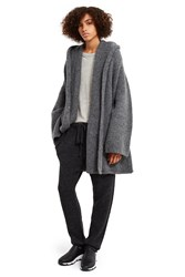 Lauren Manoogian Copote Hooded Sweater Coat Charcoal