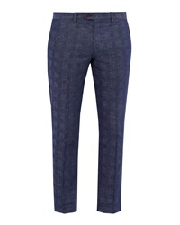 Ted Baker Men's Rectro Checked Trousers Bright Blue