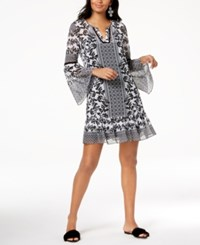 Inc International Concepts I.N.C. Printed Bell Sleeve Dress Created For Macy's Tuscan Tiles