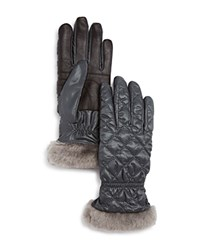 Ugg Quilted Tech Gloves Gray