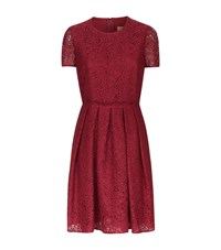 Burberry Lace Skater Dress Female Red