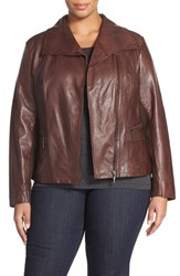 Plus Size Women's Bernardo 'Timber' Leather Jacket