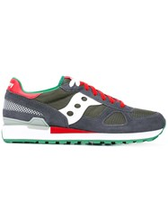 Saucony Shadow Original Sneakers Men Cotton Leather Polyester Rubber 11 Grey