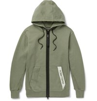 Tom Ford Oversized Logo Trimmed Garment Dyed Loopback Cotton Jersey Hoodie Green