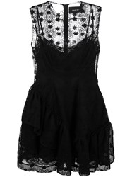 Simone Rocha Layered Flared Mini Dress Black