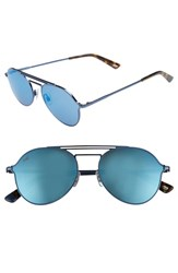Web 56Mm Aviator Sunglasses Shiny Blue Blue Mirror Shiny Blue Blue Mirror