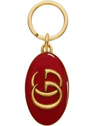 Gucci Double G Keychain Red