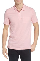 Men's 1901 Trim Fit Heathered Jersey Pocket Polo Pink Shore