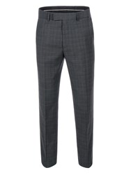 Pierre Cardin Men's Louis Grey Pow Check Trousers Grey