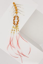 Dries Van Noten Crystals And Feathers Brooch