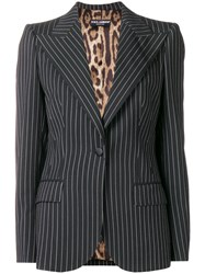 Dolce And Gabbana Pinstripe Blazer Black
