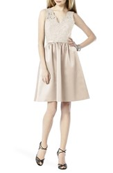Women's After Six Embellished Lace With Satin Fit And Flare Dress