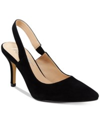 Nanette Lepore By Sally Slingback Pumps Only At Macy's Women's Shoes Black Suede