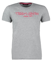 Teddy Smith Ticlass Print Tshirt Gris Chine Mottled Grey