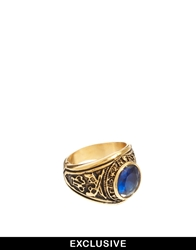 Reclaimed Vintage Stone Ring Gold