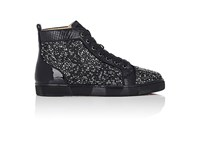 Christian Louboutin Men's Louis Flat Sneakers Black