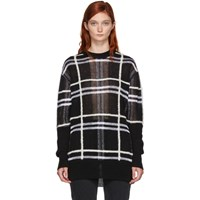 Mcq By Alexander Mcqueen Black Patched Check Sweater