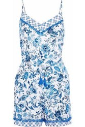 Jets Australia By Jessika Allen Provence Printed Voile Playsuit Blue