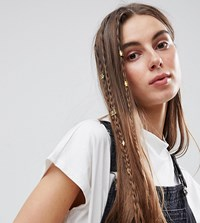 Asos Pack Of 20 Cut Out Hair Cuffs Gold