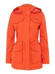 Andrew Marc New York Lightweight Hooded Parka Orange