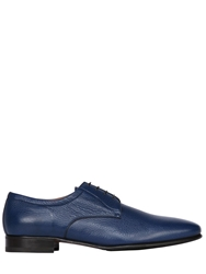 A.Testoni Deerskin Leather Derby Lace Up Shoes Blue