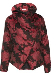 Alice Olivia Wendell Jacquard Down Coat Red