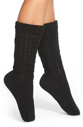 Women's Kensie Cable Knit Slipper Socks