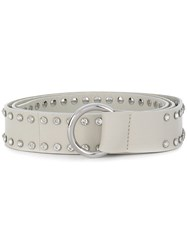 B Low The Belt Stud Detail White