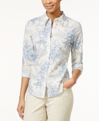 American Living Printed Floral Button Down Shirt