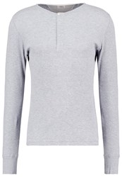 Scotch And Soda Alone Long Sleeved Top Grey Melange Mottled Grey