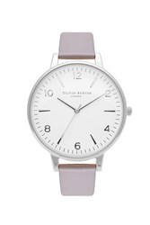 Topshop Olivia Burton White Dial Grey Lilac And Silver Modern Vintage Ob15mv38 Watch