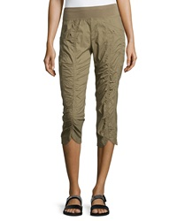 Xcvi Iris Ruched Center Crop Pants Mantis