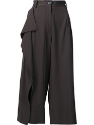 Isabel Benenato Cropped Trousers Grey