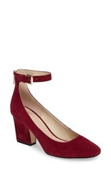 Marc Fisher Women's Ltd Anisy Ankle Strap Pump Berry Suede
