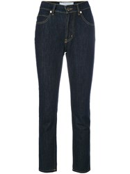 Societe Anonyme Cropped Skinny Jeans Women Cotton M Blue