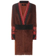 Etro Embellished Mohair And Wool Jacket Red
