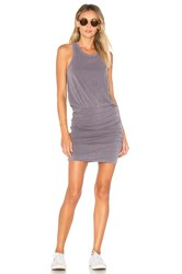 Sundry Sleeveless Slub Spandex Dress Gray